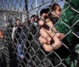Fotografías de los refugiados en Europa, en el Centro de Arnedo