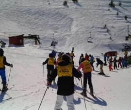 3.000 estudiantes de ESO, en la campaña de esquí en Valdezcaray