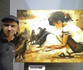 """El riojano Julio Valgañón muestra su obra en """"Yo expongo"""""""