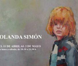 Yolanda Simón muestra su pintura en el Centro de Arnedo