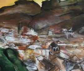 Guillermo Pérez expone sus pinturas en el Centro de Arnedo