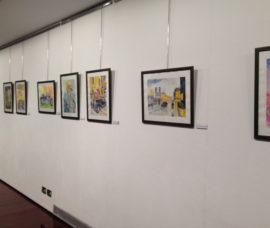 Exposición de pintura en Gran Vía a beneficio de Arad