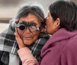 Muestra sobre la ceguera en nuestro Centro de Nájera