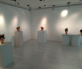 Exposición sobre tocados con verduras en el Centro de Arnedo