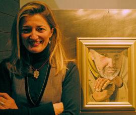 Abigail Barbosa en 'Yo expongo', una iniciativa de Bankia y Fundación Caja Rioja en GranVía