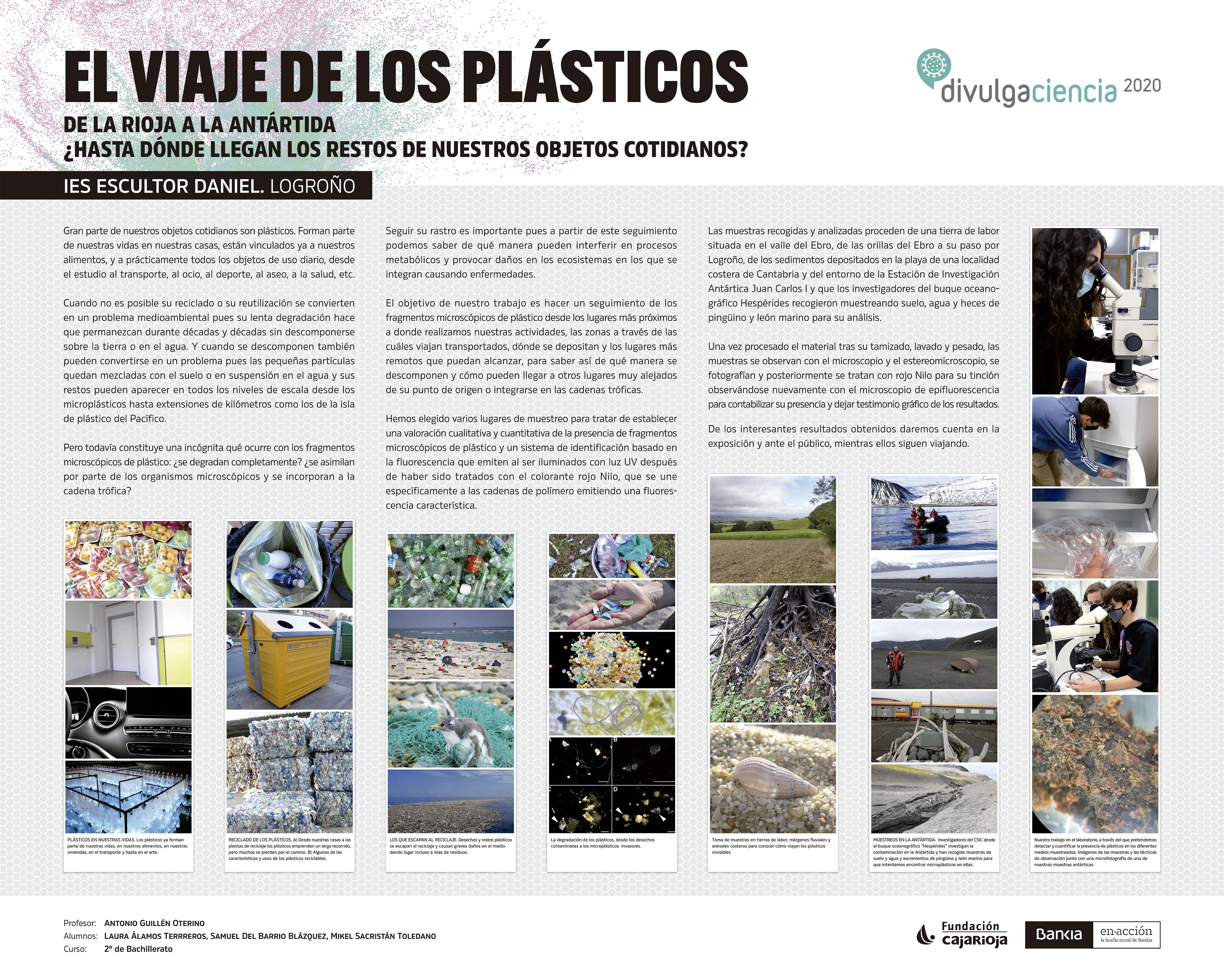 Panel EL VIAJE DE LOS PLASTICOS