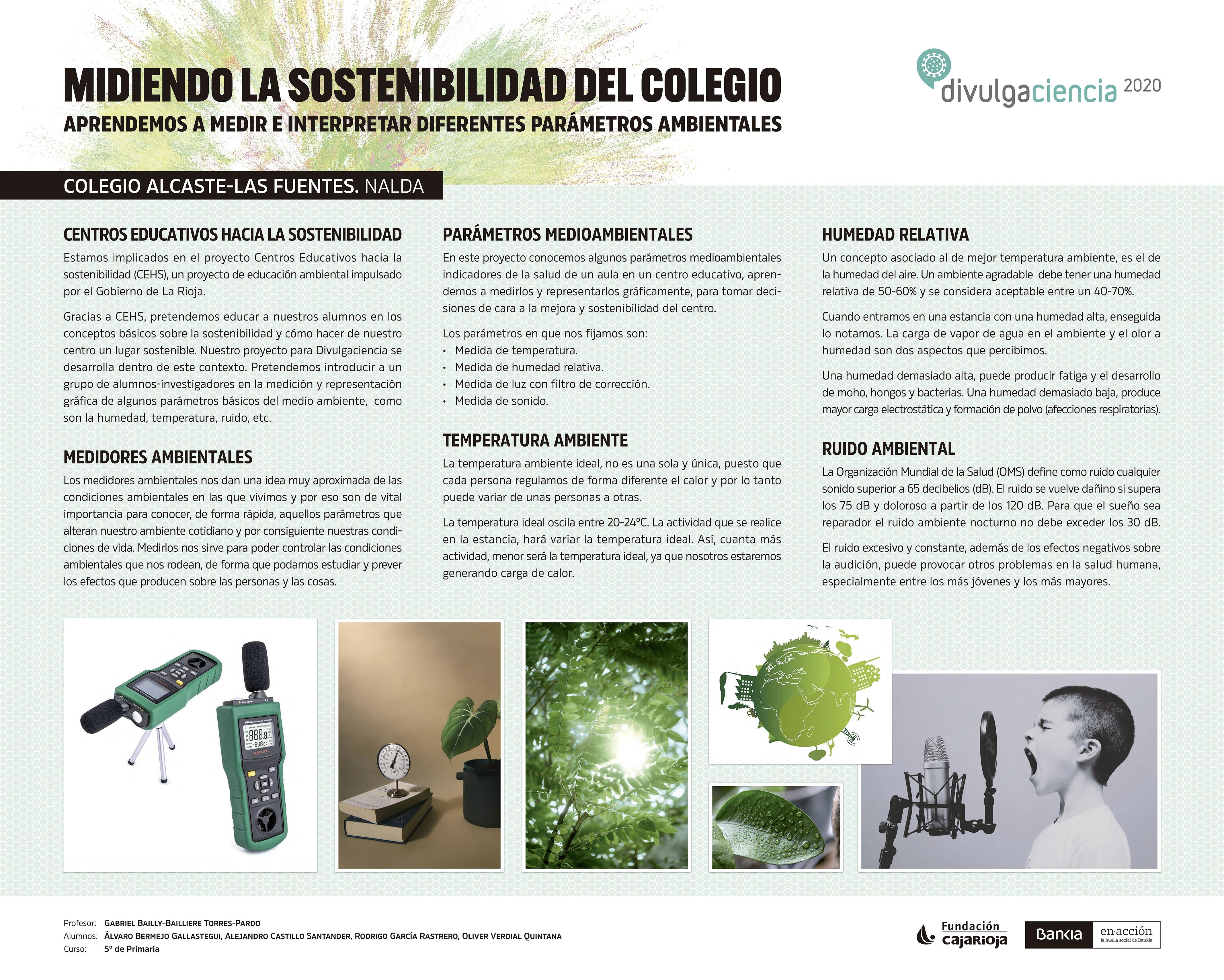 Panel MIDIENDO LA SOSTENIBILIDAD DEL COLEGIO