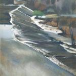 José Uriszar S/T Óleo. 100 x 50 cm