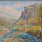 Flaño EZCARAY Óleo sobre lienzo. 46 x 33 cm.  1989.