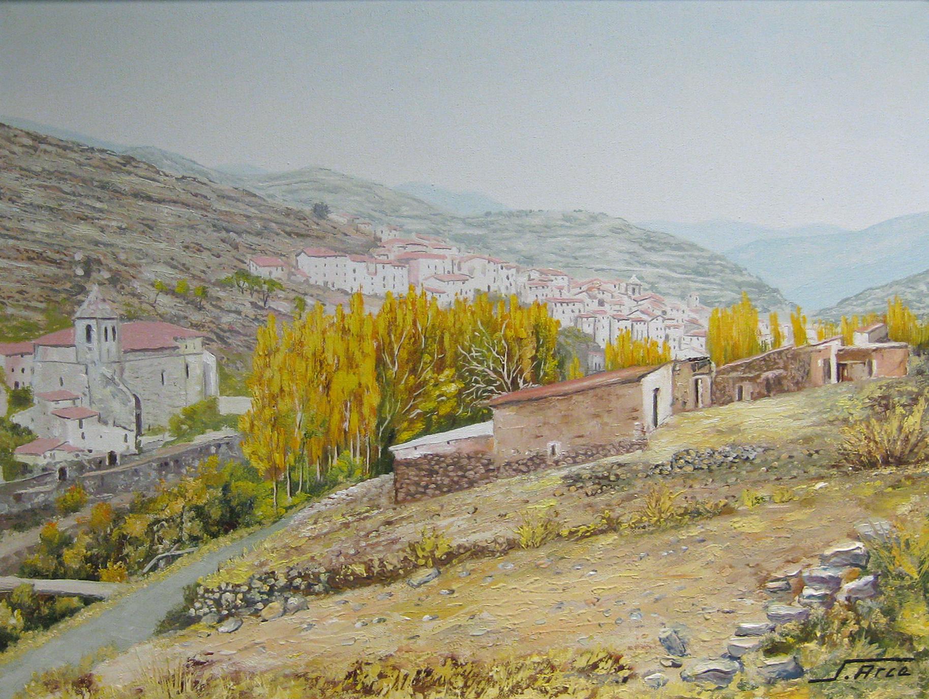 Segundo Arce   PAISAJE DE MUNILLA Oleo S/Lienzo. 46 x 62 cm