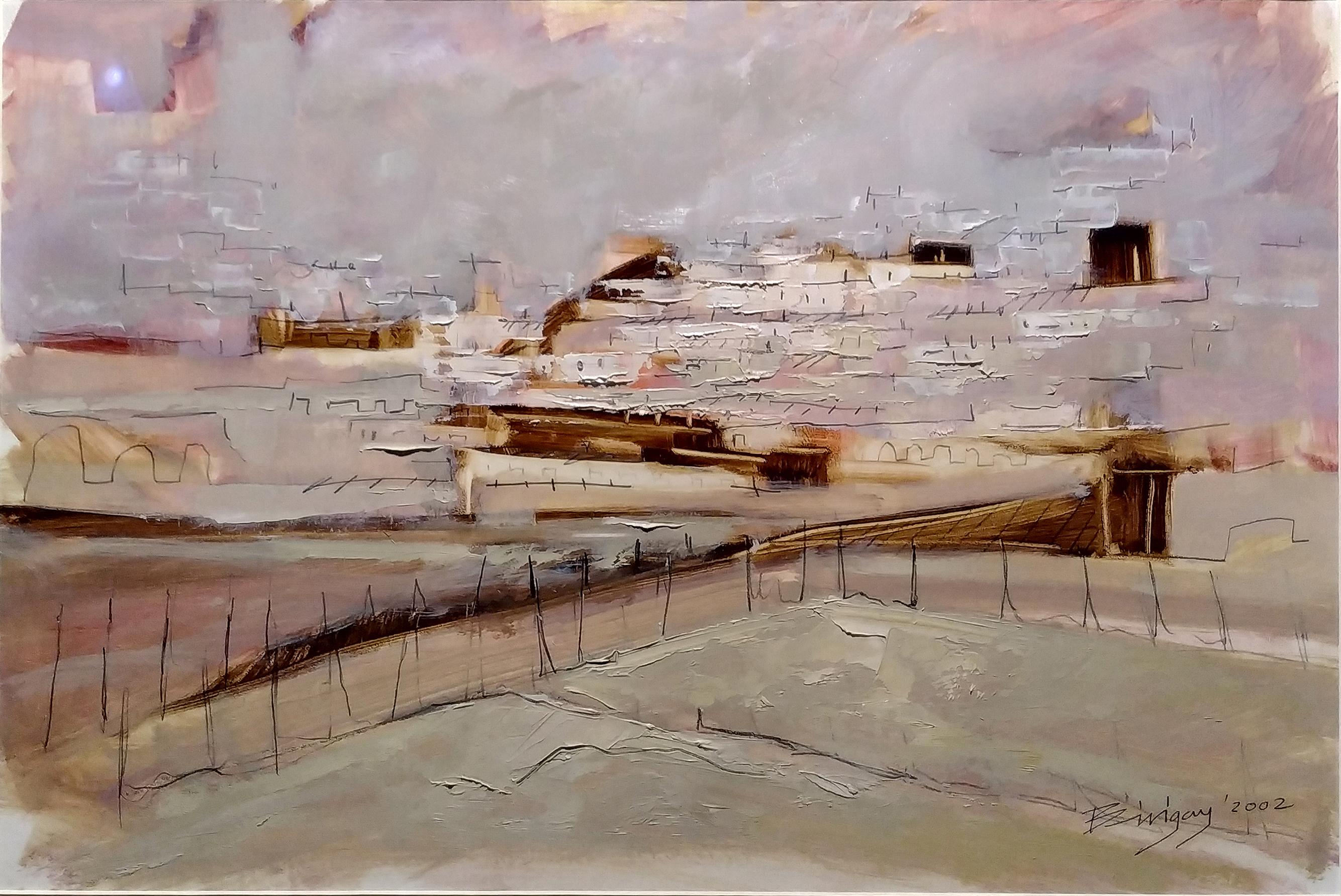 José Luis Birigay  BOCETO SOBRE ROJOS Óleo sobre papel. 35 x 52 cm. 2002