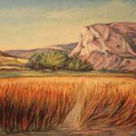 Julio Sabrás PEÑA SAN TORCUATO: EZCARAY Óleo sobre lienzo. 55 x 64 cm. 1994