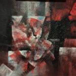 Emilio García Moreda   COSMOGONÍA DE HOMICIDIO Óleo S/Tabla. 96 x 131 cm. 1977