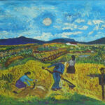 Manolo Urbina EL ESPANTAPÁJAROS Óleo sobre lienzo. 61 x 73 cm