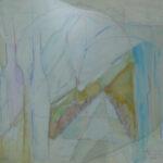 Carlos Estecha  LOGROÑO TARDE Óleo S/Tabla.  40 x 94 cm. 2001