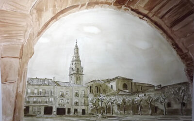 Alejandro Espiga muestra sus pinturas en el Centro Fundación Caja Rioja de Santo Domingo de la Calzada